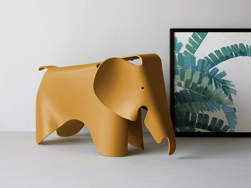 Kid's Elephant Shape Stool - Mustard