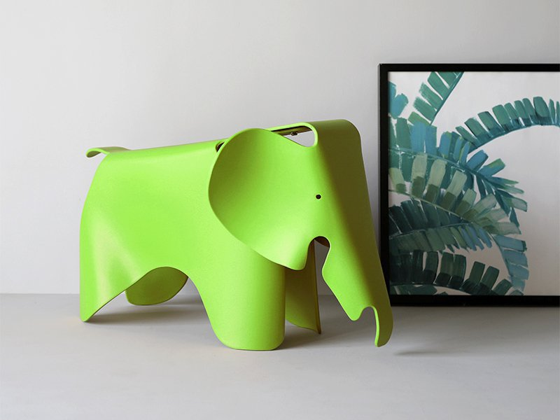 Kids's Elephant Shape Stool - Green