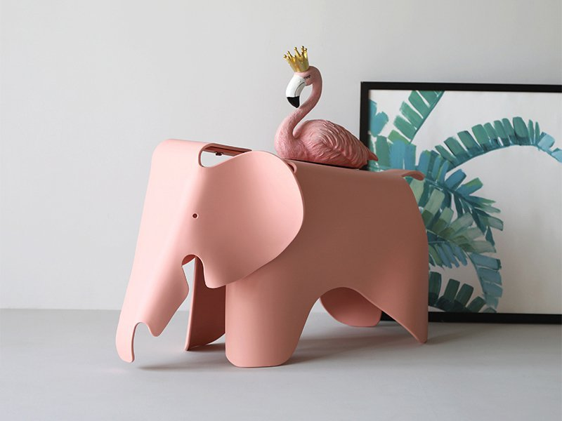 Kids Elephant Shape Stool - Pink