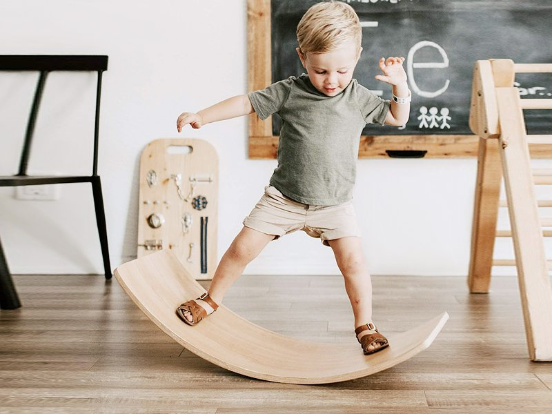 Kid's Wooden Indoor Balance Board