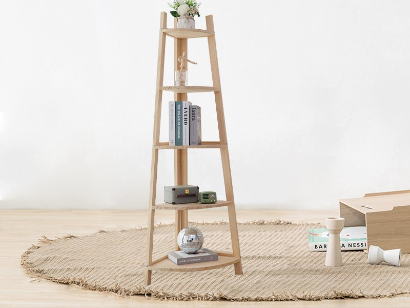 5 Tier Wooden Corner Shelf