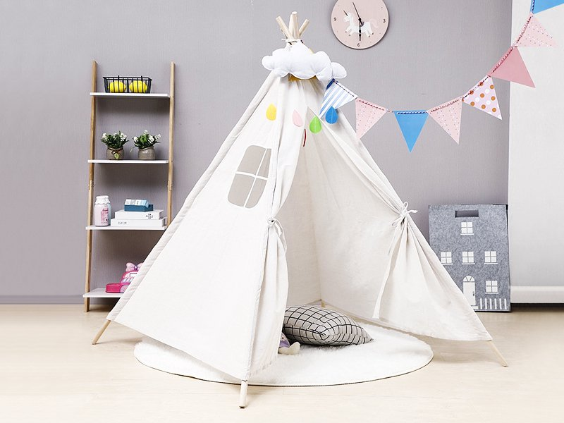Kid's Teepee Play Tent - Cream