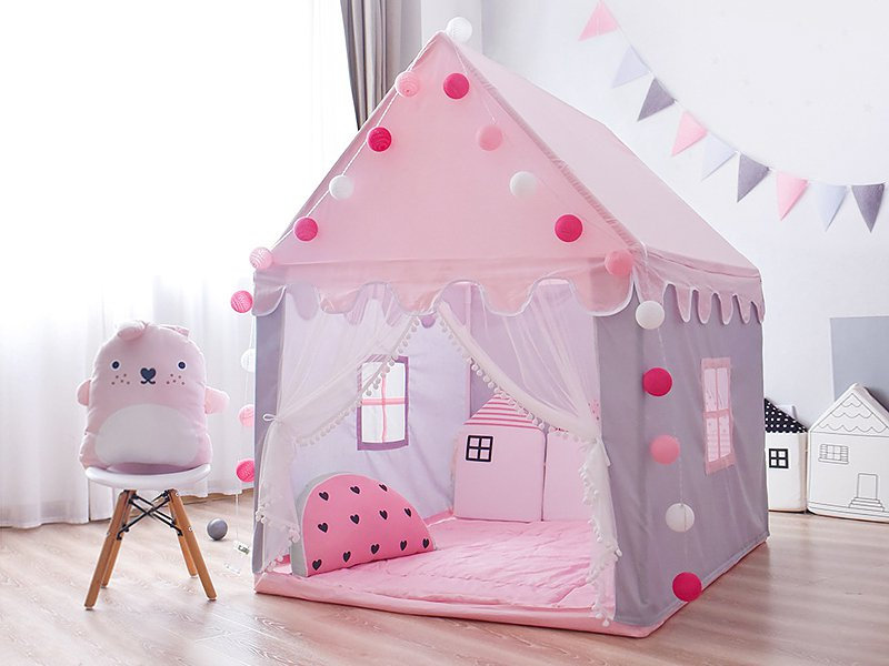 Kid's Playhouse Play Tent - Pink