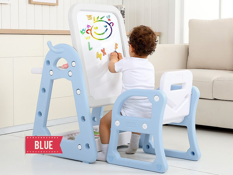 Kids Activity Table with Drawing Board - Blue