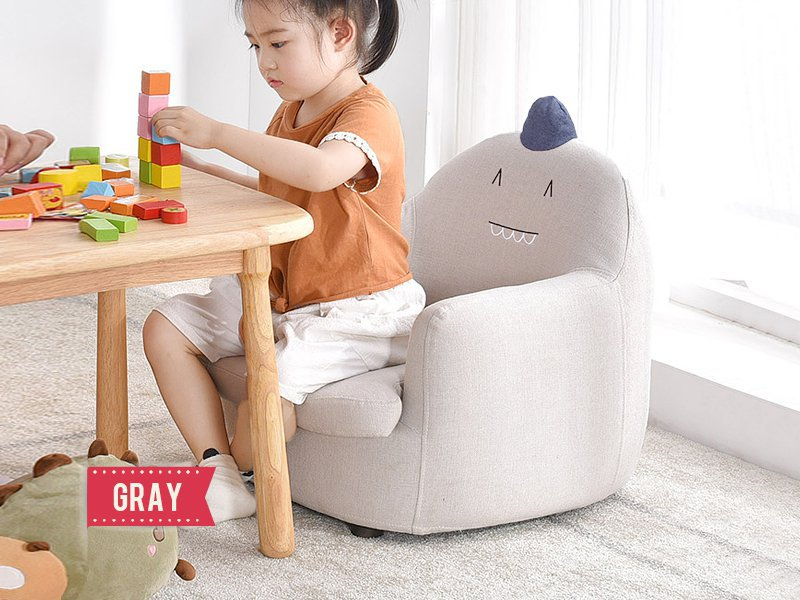 Kid's Animal Armchair - Gray