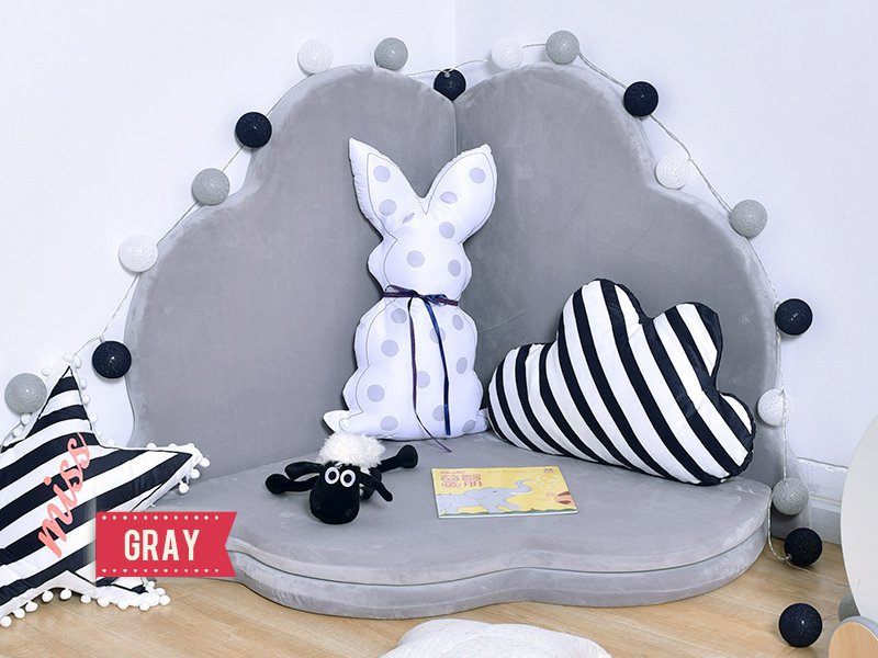 Kid's Petal Folding Play Mat - Gray