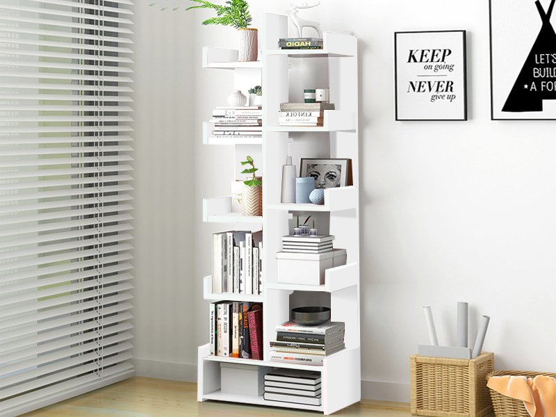 Bookshelf Display Shelf  - White