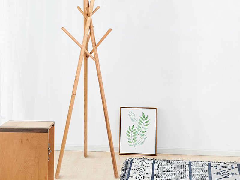 Branch-Style Wooden Coat Rack