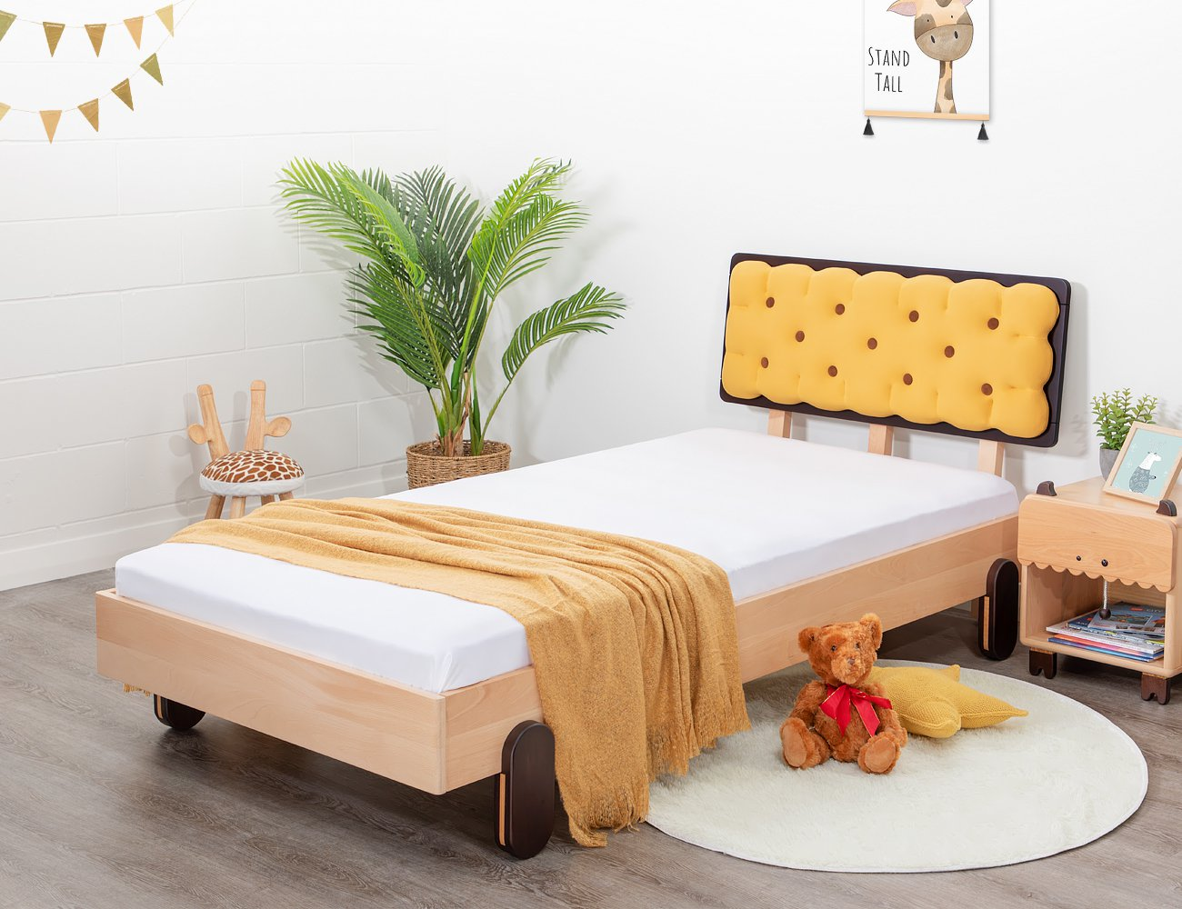 Biscuit King Single Bed Frame