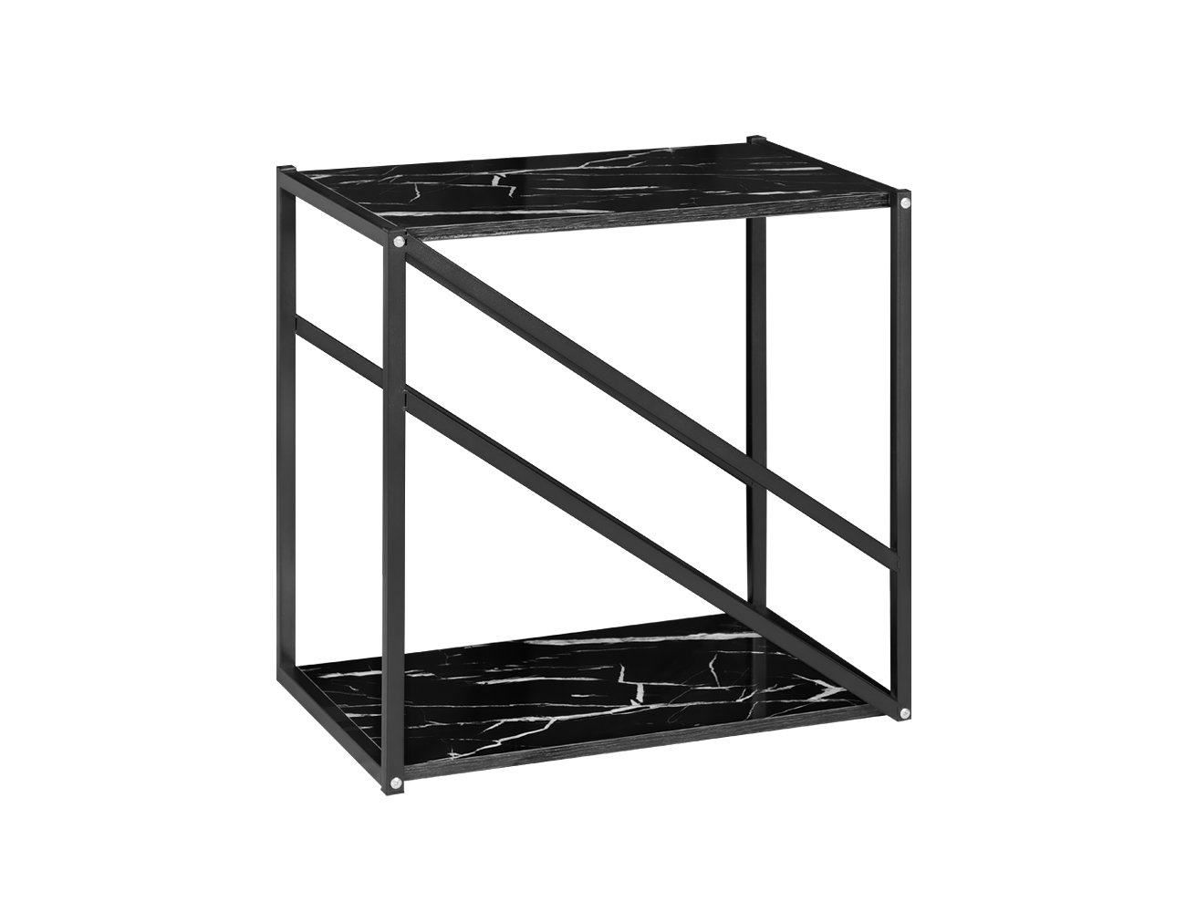 Side Table with Base - Black