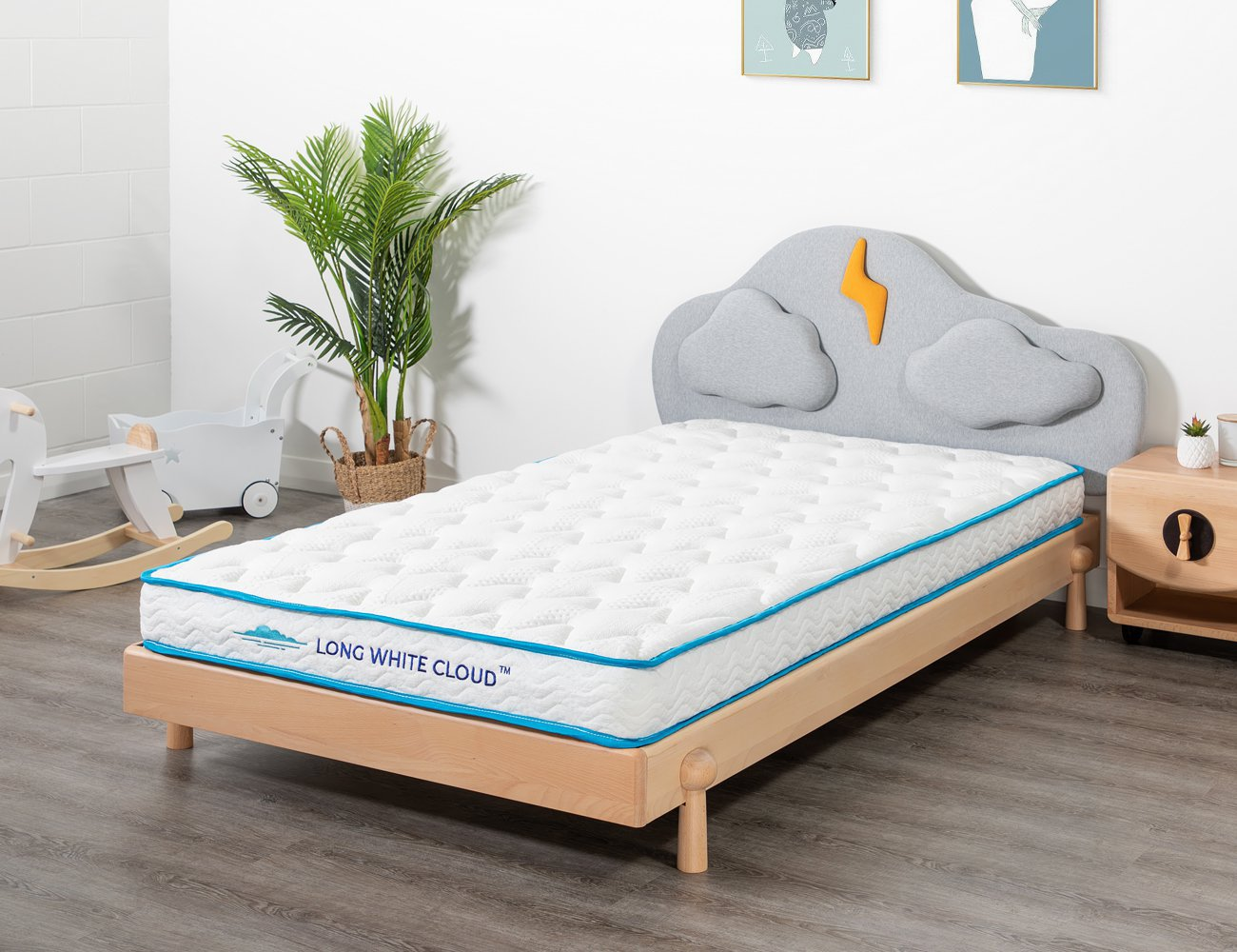 Kids Single Long White Cloud Mattress
