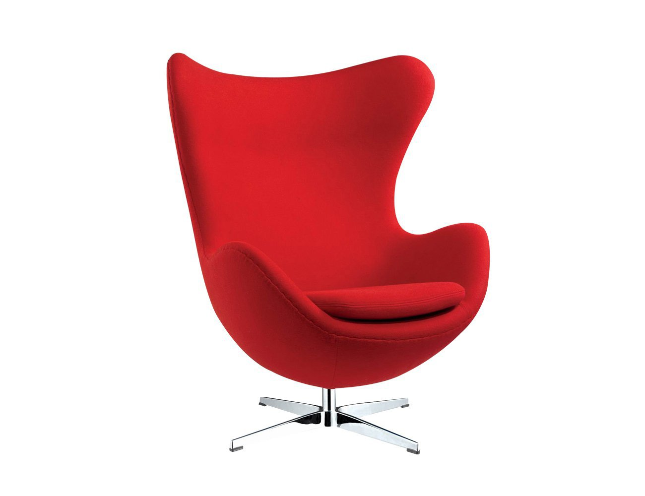 Replica Egg Chair - Red - Fabric