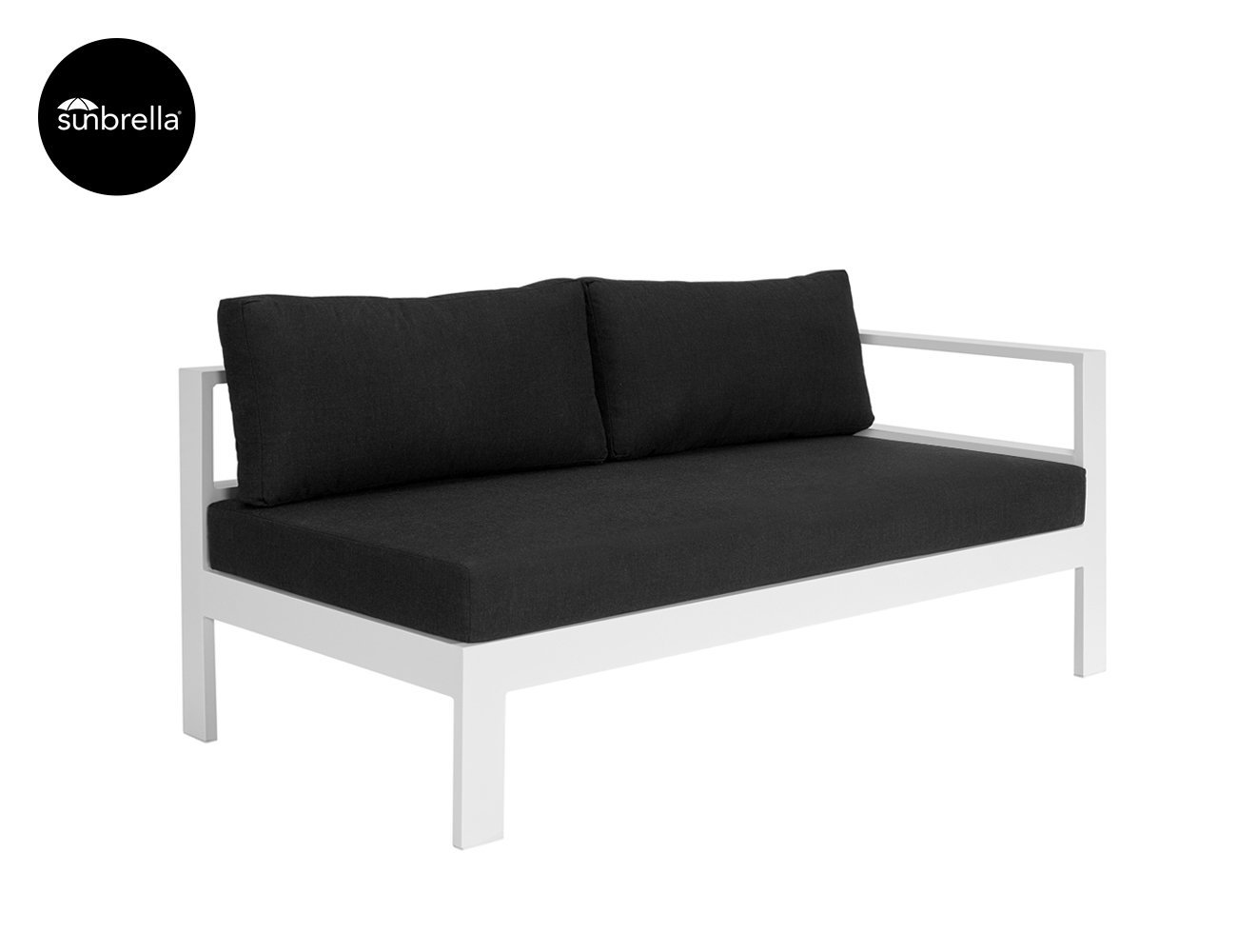 Sandpiper Outdoor Sectional Right Sofa - White