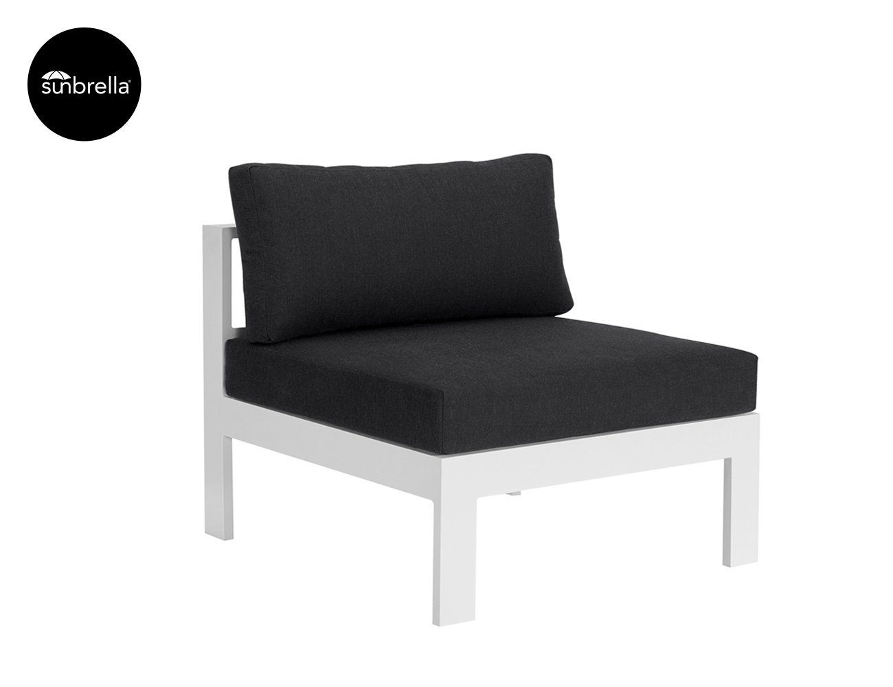 Sandpiper Outdoor Sectional Sofa Centre - White