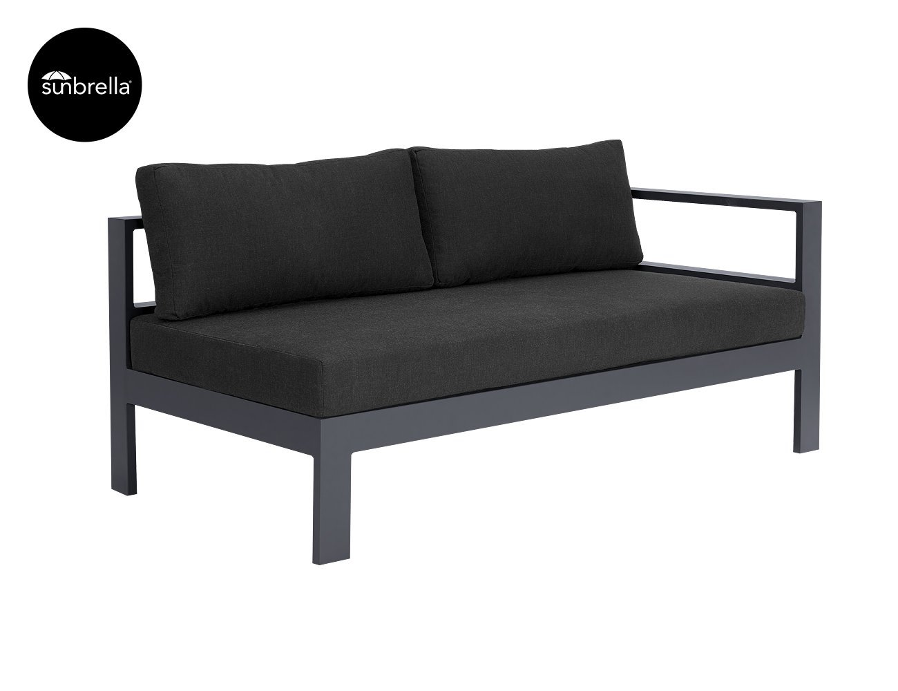 Sandpiper Outdoor Sectional Right Sofa - Grey