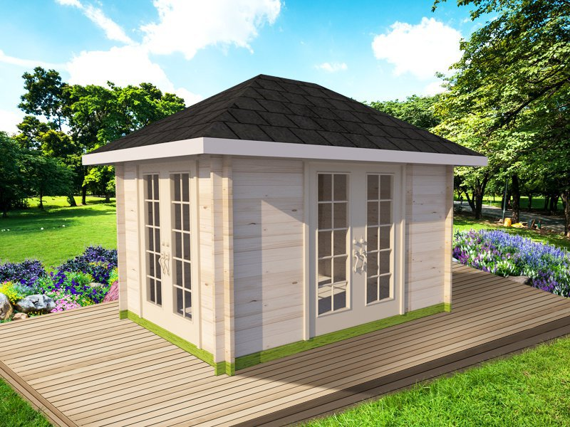 Orchard Log Cabin Garden House - 3.6 x 2.7m