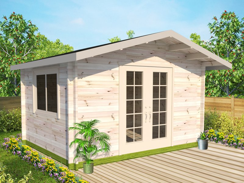 Holloway Log Cabin Garden House - 3.9 x 3m