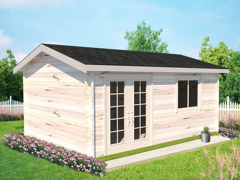 Dusk Log Cabin Garden House - 5.3 x 3.8m