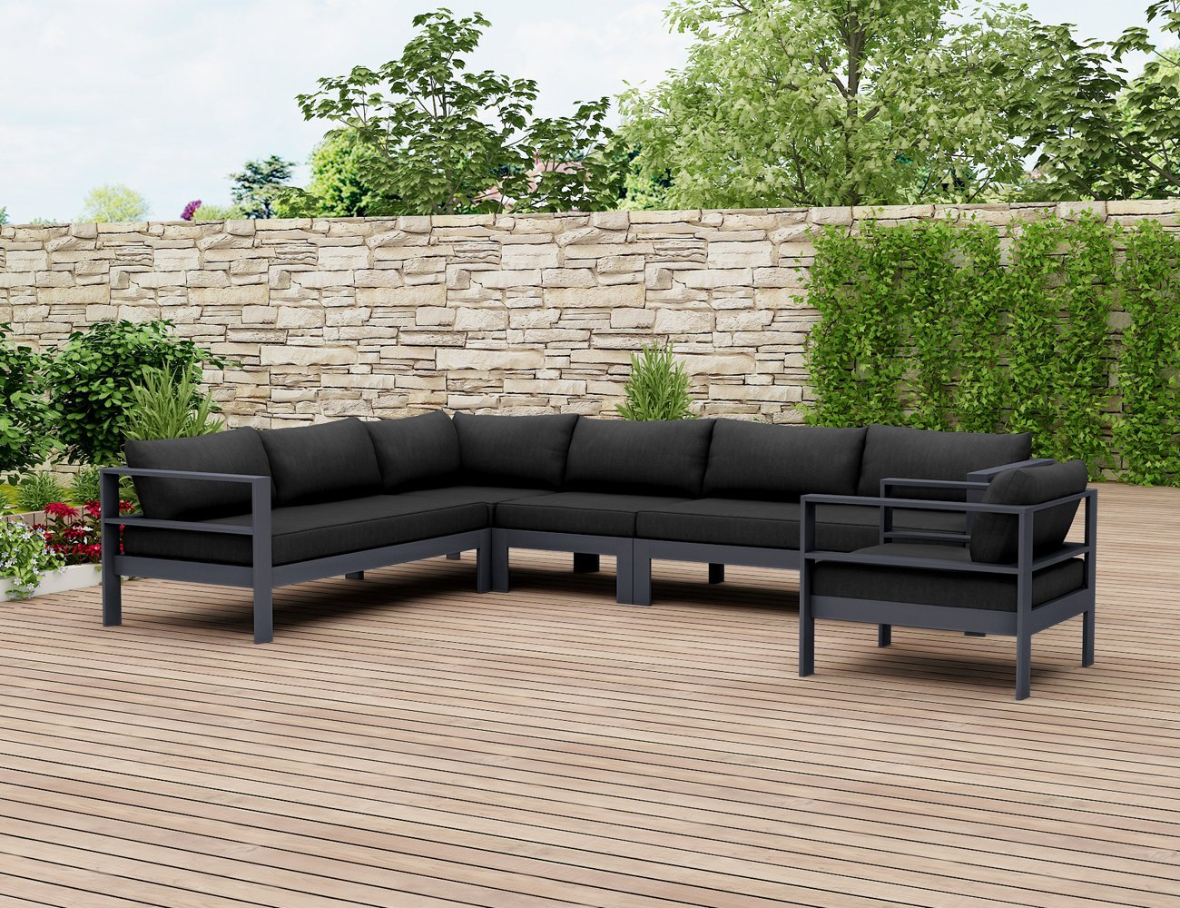 Sandpiper Outdoor Lounge Setting - Grey