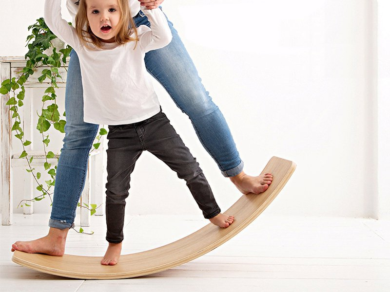 Kid's Wooden Indoor Balance Board-Large