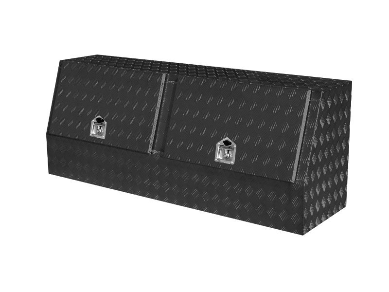 Double Lid Aluminium Truck Tool Box-Black