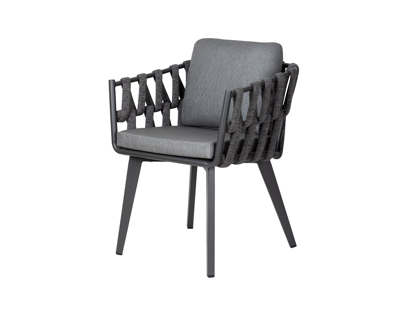 Fantail Aluminium & Rope Outdoor Dining Chair