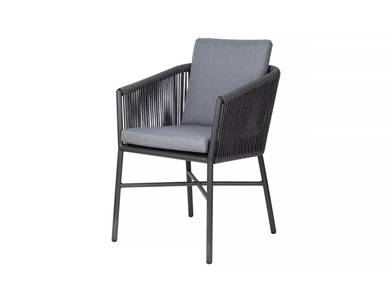 Swamphen Aluminium and Rope Outdoor Dining Chair