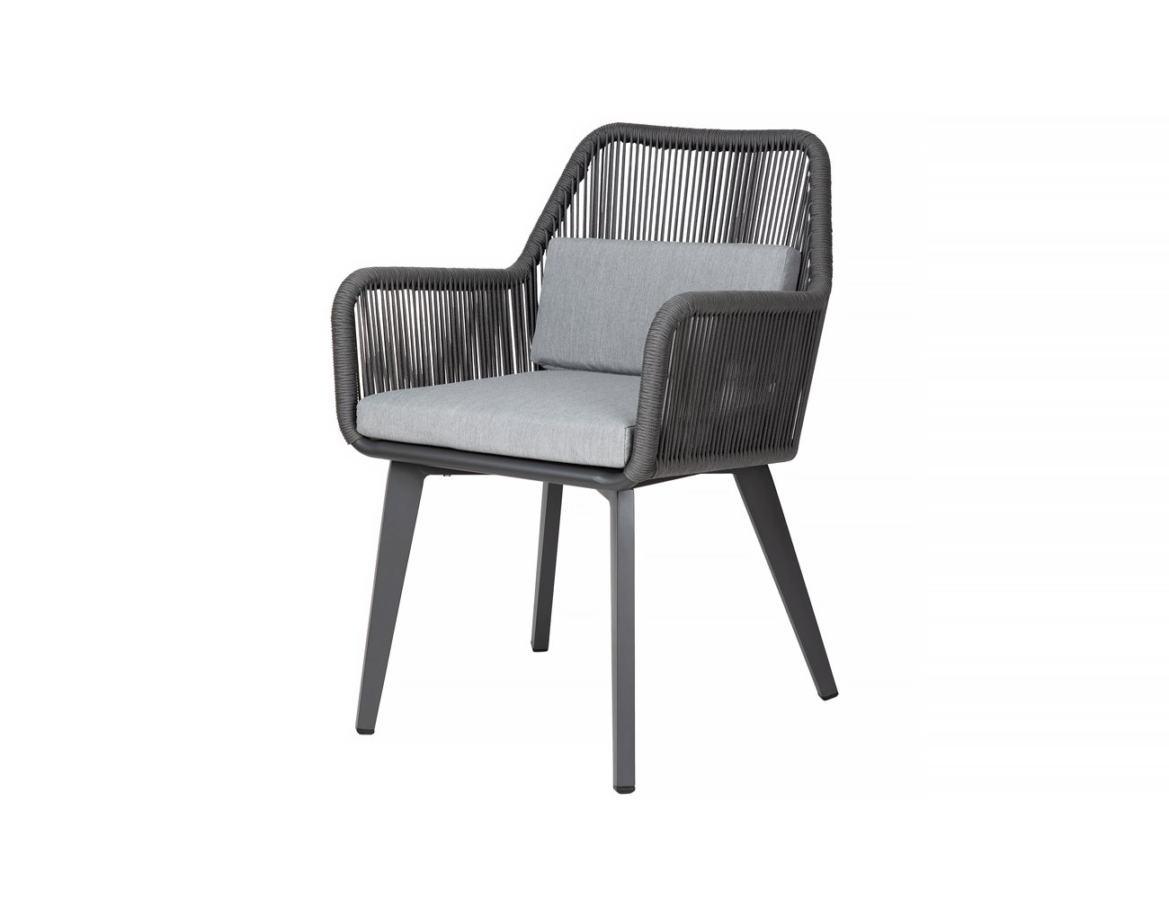 Falcon Aluminium and Rope Outdoor Dining Chair
