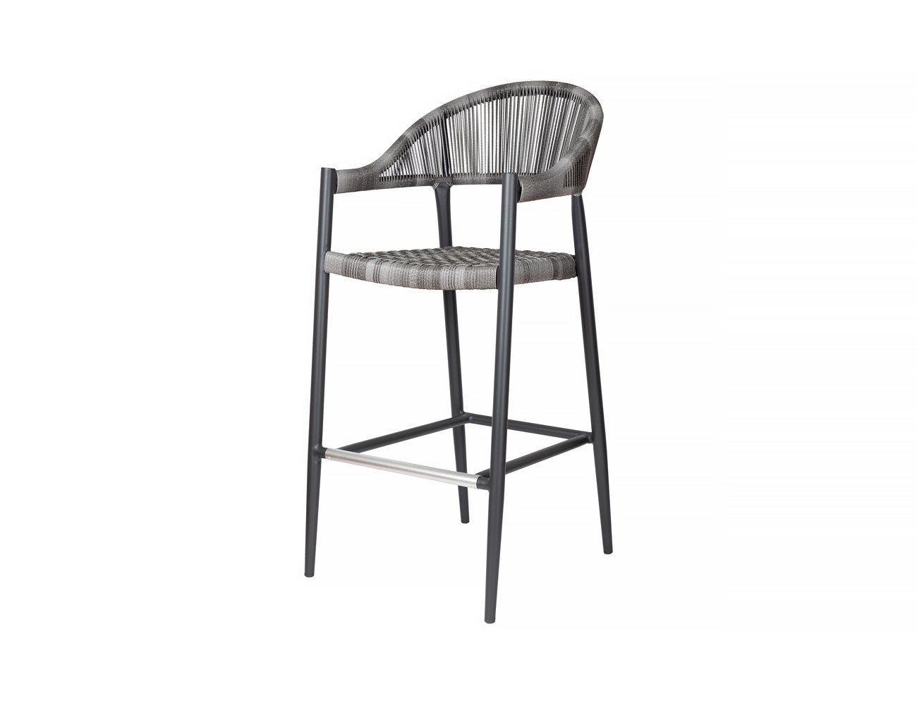 Parakeet Aluminium and Rattan Outdoor Bar Chair