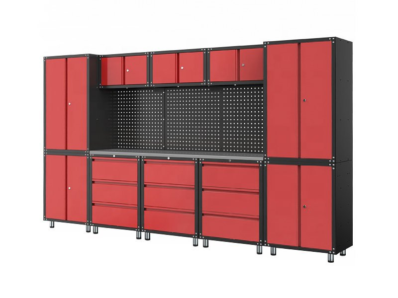 Modular Garage Cabinet & Stainless Steel Workbench