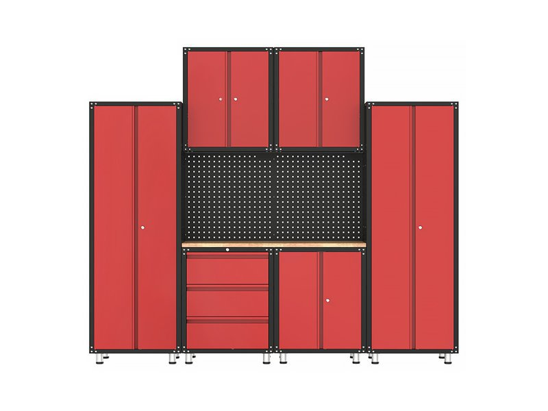 Garage Organisation Cabinet Set & Wooden Bench