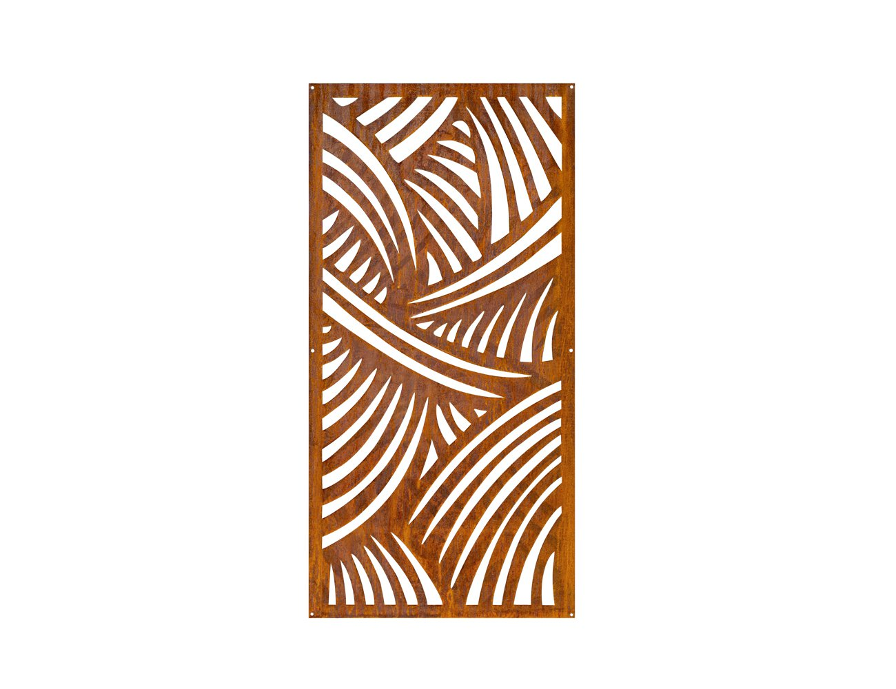 Rhea 120cm Corten Steel Outdoor Screen Panel