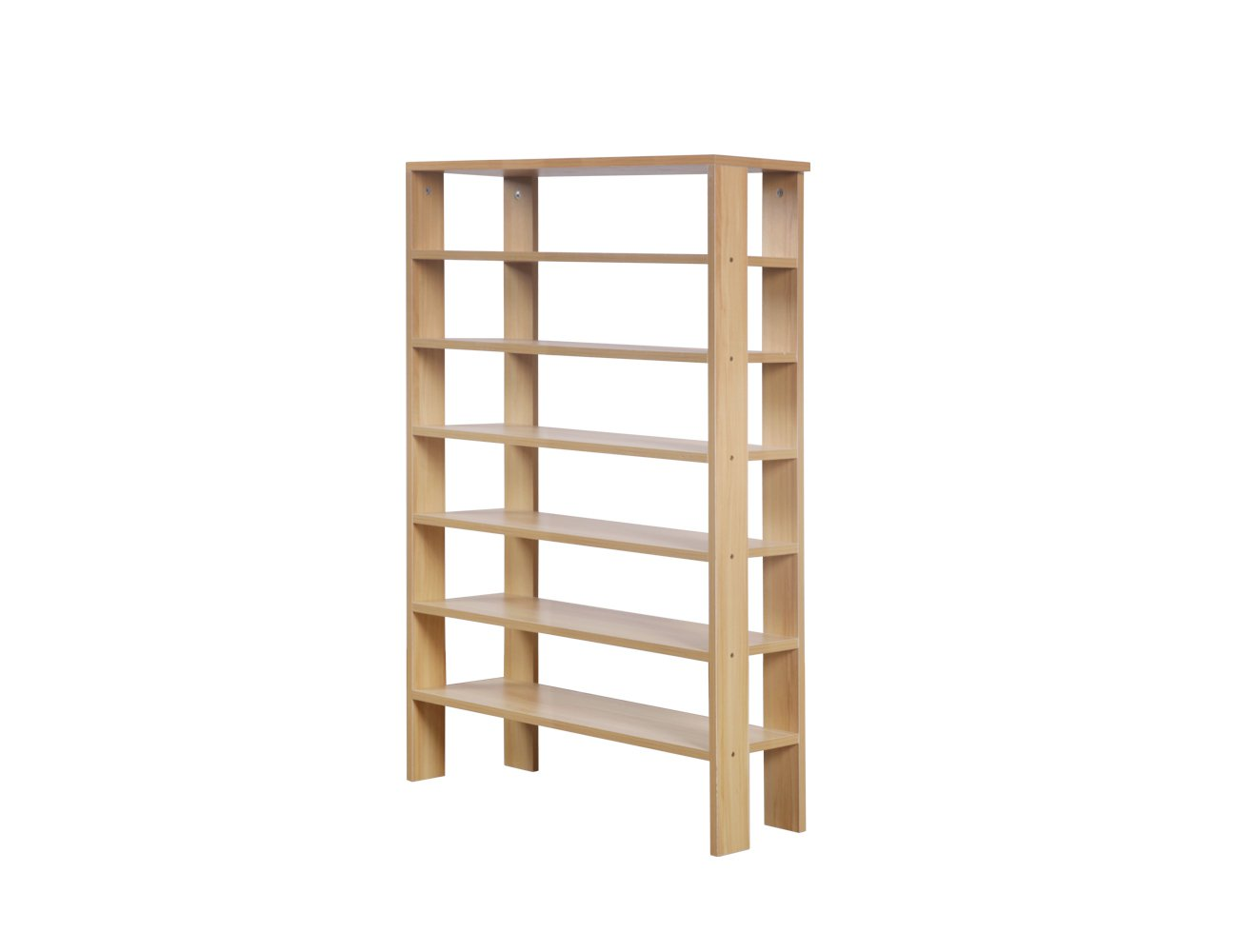 Seven Layer Shelving Unit - Natural FInish