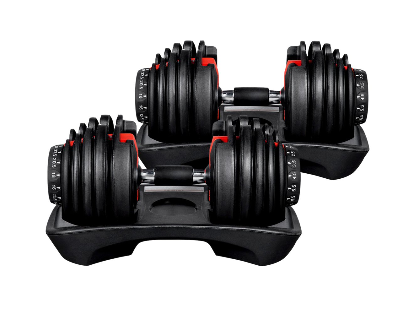 2 x 24kg Adjustable Dumbbell
