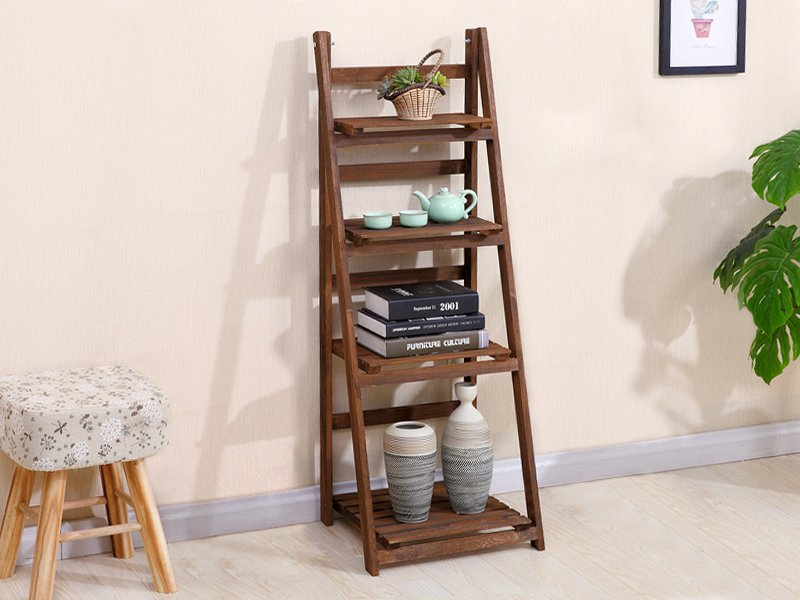 Four Layer Flower Rack Storage Rack - Brown