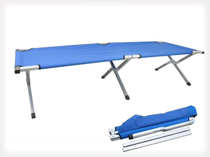 Foldable Canvas Camping Bed/Stretcher
