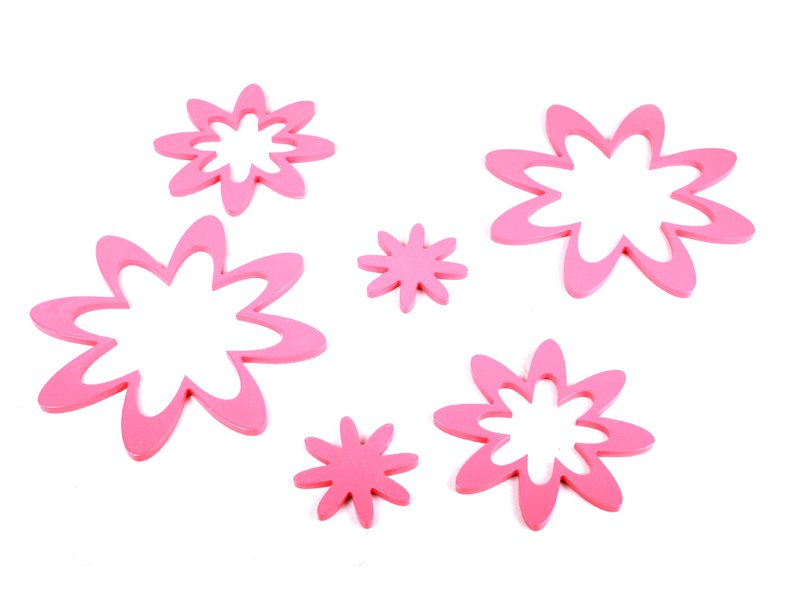 Reusable Star Wall Art - Peach Pink Color