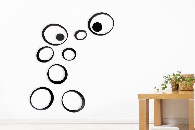 Wood Reusable Wall Art -- Black Colour Only
