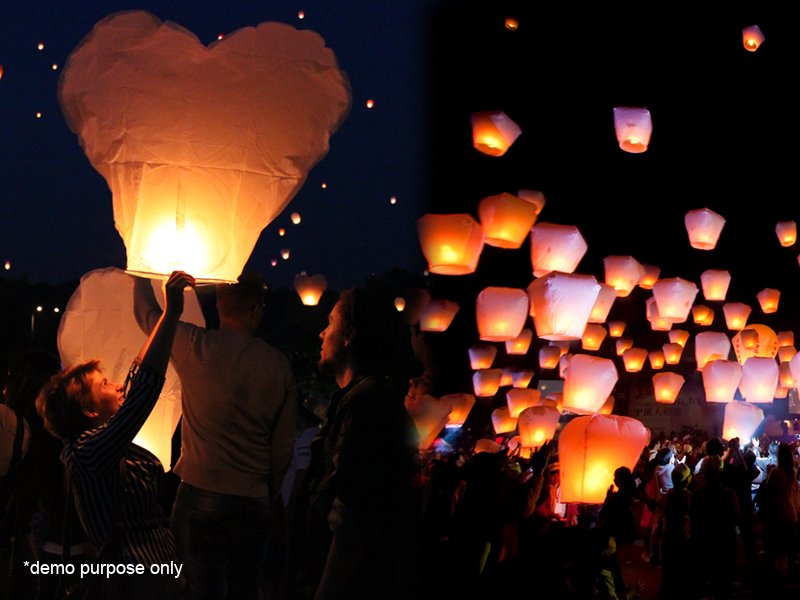 10 x Flying Lanterns
