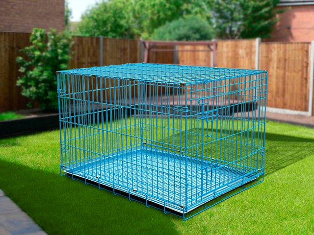 Foldable Dog Cage Kennel Xxl 42 Quot Blue Crazy Sales We