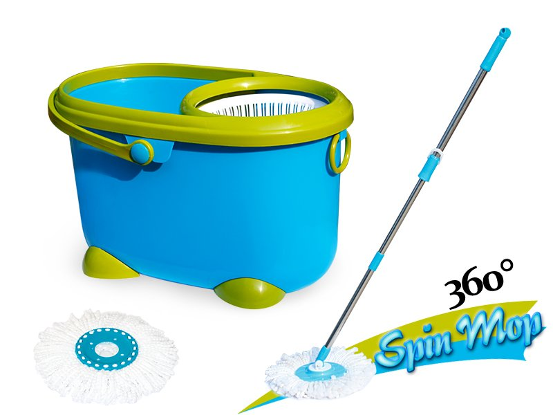 360 Rotate Spin Mop With Bucket Two Heads Crazy Sales