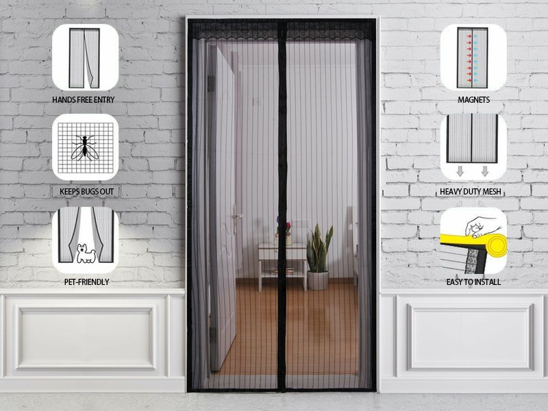 Instant Closing Magnetic Fly Screen Door