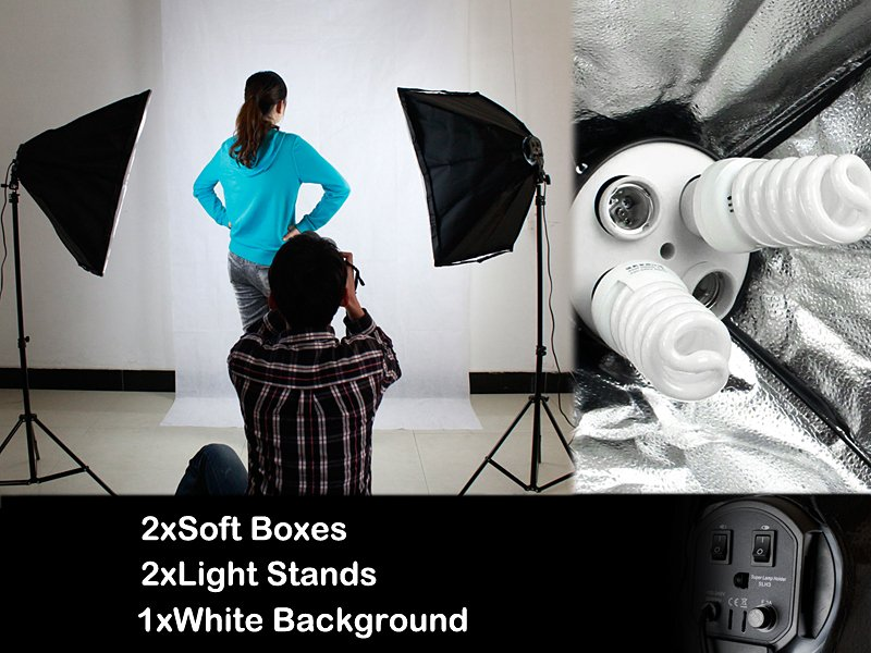 Photography Soft Box Lighting Stand Kit