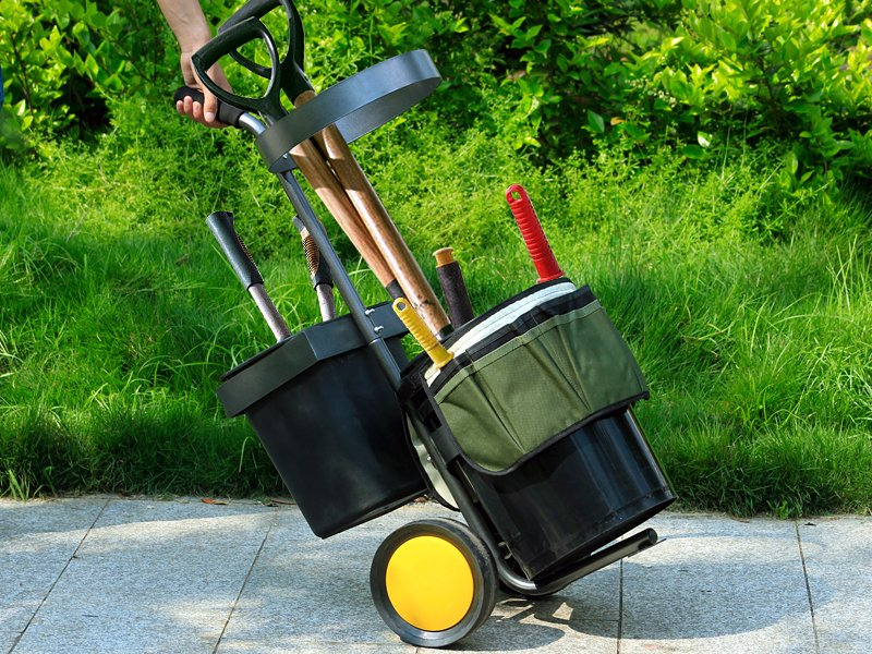 Portable garden tool trolley crazy sales we have the for Garden tools equipment sales