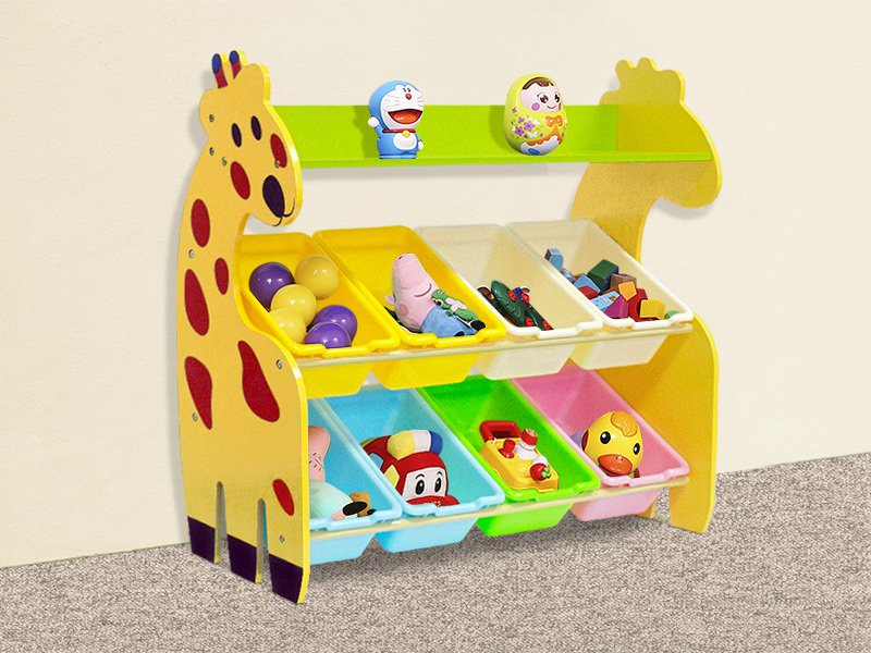 Toy Organizer with 8 Storage Bins