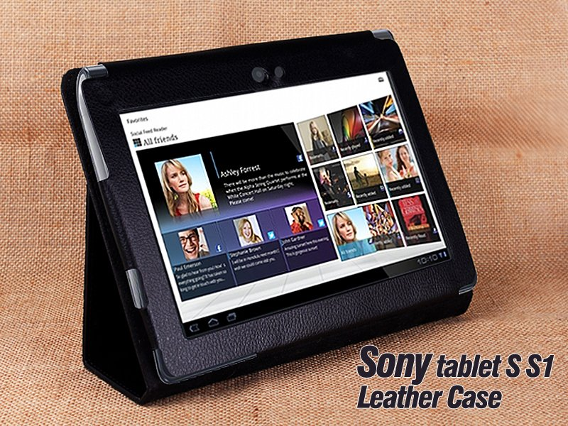 Tablet Leather Case Stand for SONY Tablet S S1